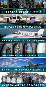 servicio de mantenimiento de radio, partes, instrumentos, motoresALS | taller aeronáutico