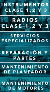 Banner de servicios del taller aeronáutico ALS